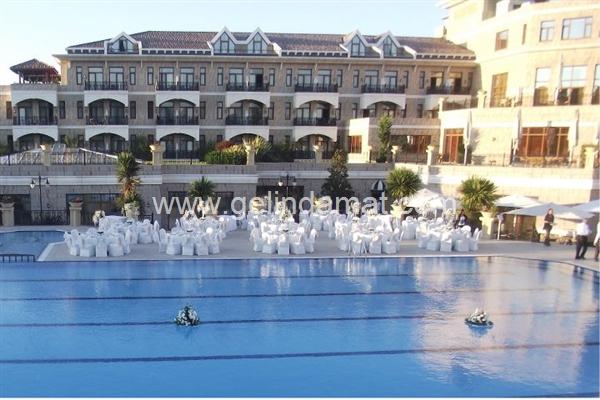 Havuzbaşı düğün mekanları Şile Garden Hotel