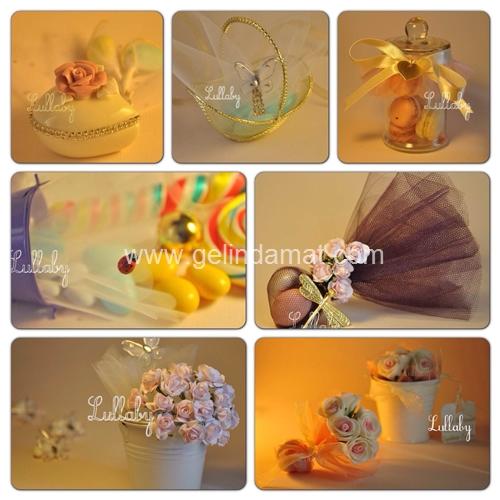 Beyaz Badem Nikah Şekerleri  -  Tüllü badem nikah şekerleri
