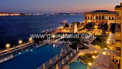 Çırağan Palace Kempinski İstanbul-deniz manzaralı düğün mekanı