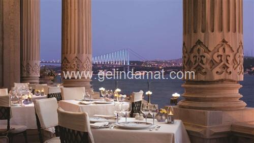 Çırağan Palace Kempinski İstanbul-çırağan palace manzaralı yemek salonu