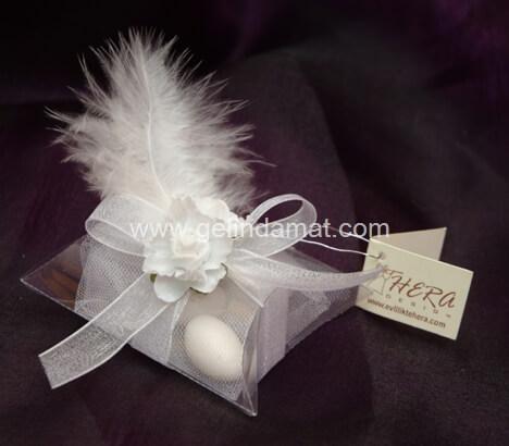 Hera Design - Nikah Şekeri-bademli tüylü nikah şekeri modeli