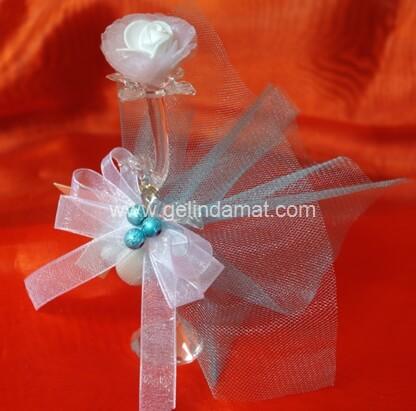 Hera Design - Nikah Şekeri-kristal gül nikah şekeri