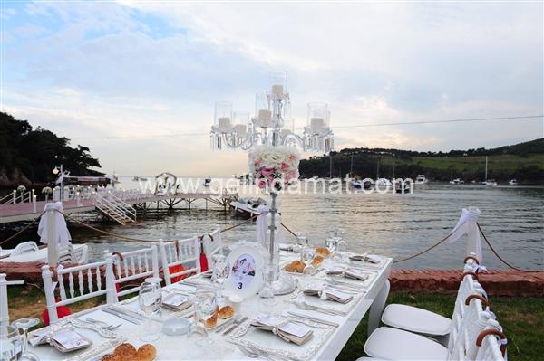 ada beach club düğün masa düzenleri