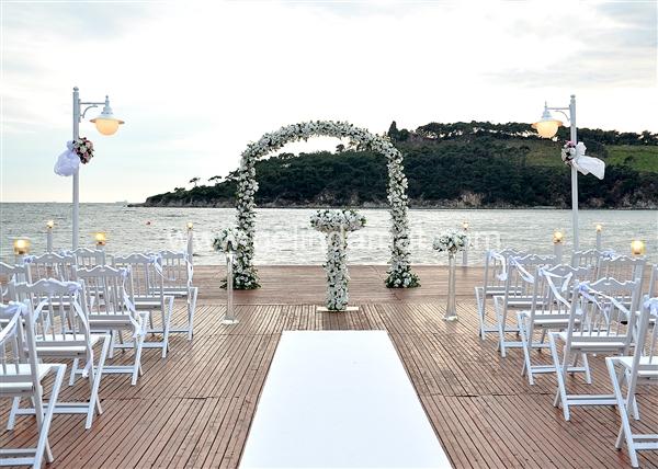 Heybeliada ada beach club nişan törenleri