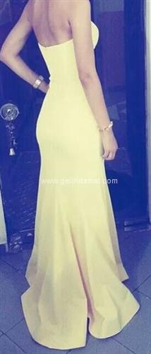 Hürmüz Varol-Sarı Abiye Elbise-Hürmüz Modaevi