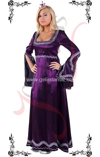 J Kaftans Bindallı Kaftan-mor bindallı kıyafeti