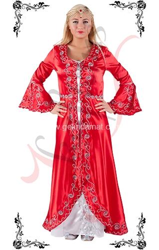 J Kaftans Bindallı Kaftan-kırmızı beyaz bindallı kıyafeti