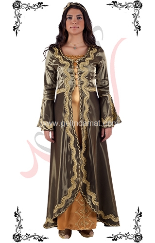 J Kaftans Bindallı Kaftan-yeşil kaftan elbisesi