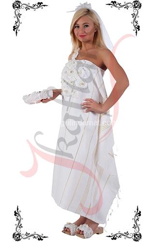 J Kaftans Bindallı Kaftan-beyaz bindallı kıyafeti