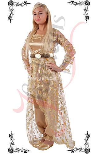 J Kaftans Bindallı Kaftan-açık renkli bindallı kıyafeti