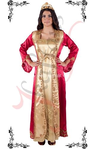 J Kaftans Bindallı Kaftan-çift renkli kına gecesi elbisesi