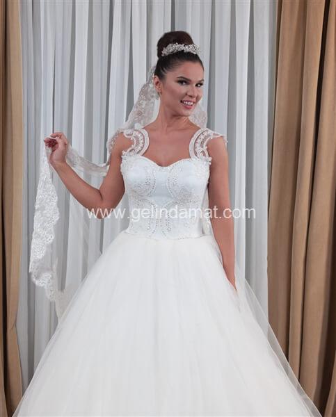 Pınar Haute Couture-Pınar Askılı Gelinlik