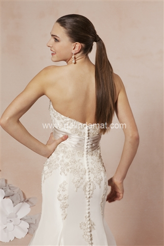 Sweetheart bridal Laperi Gelinlik61
