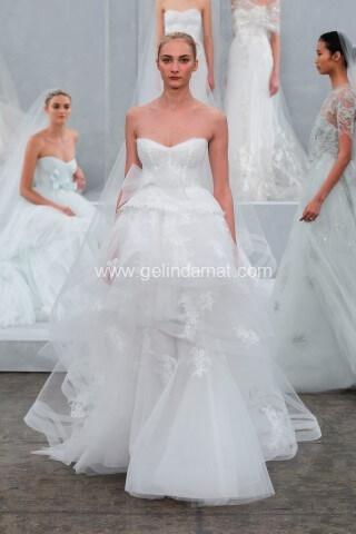Vakko Wedding Gelinlik-Vakko straplez gelinlik modelleri