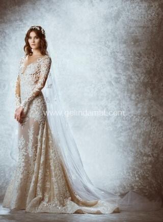 Vakko Wedding Gelinlik-Vakko transparan gelinlik modeli