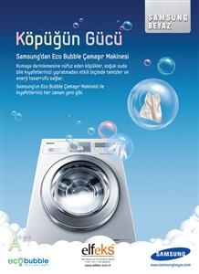 Samsung Eco Bubble İle Zamandan Kazanın!